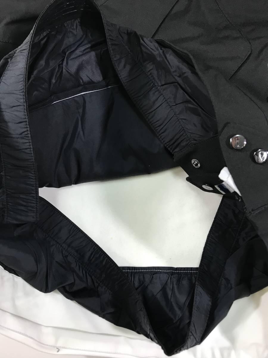新品 14136 Lサイズ RLX ストレッチ ナイロン ジャケット 黒 白 polo ralph lauren ポロラルフローレン ベスト スキー スノボ_画像8