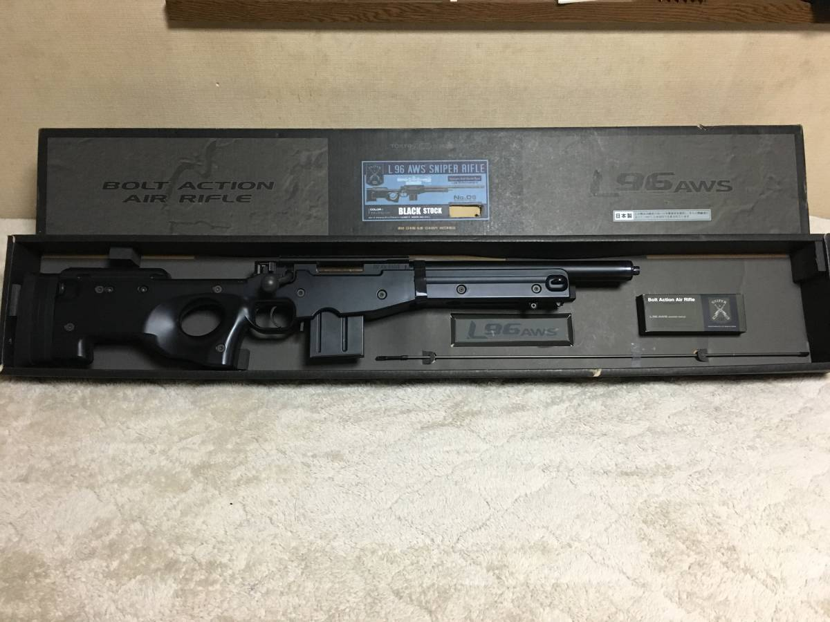 東京マルイ L96 AWSブラック スナイパー ライフル ショートバレル化、フラットホップカスタム_画像6