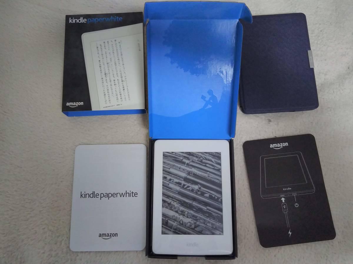 Kindle Paperwhite 32GB、マンガモデル、Wi-Fi 、ホワイト、キャンペーン情報つきモデル レザーカバー付 購入後1年未満