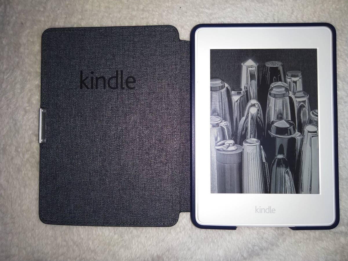 Kindle Paperwhite 32GB、マンガモデル、Wi-Fi 、ホワイト、キャンペーン情報つきモデル レザーカバー付 購入後1年未満_画像2