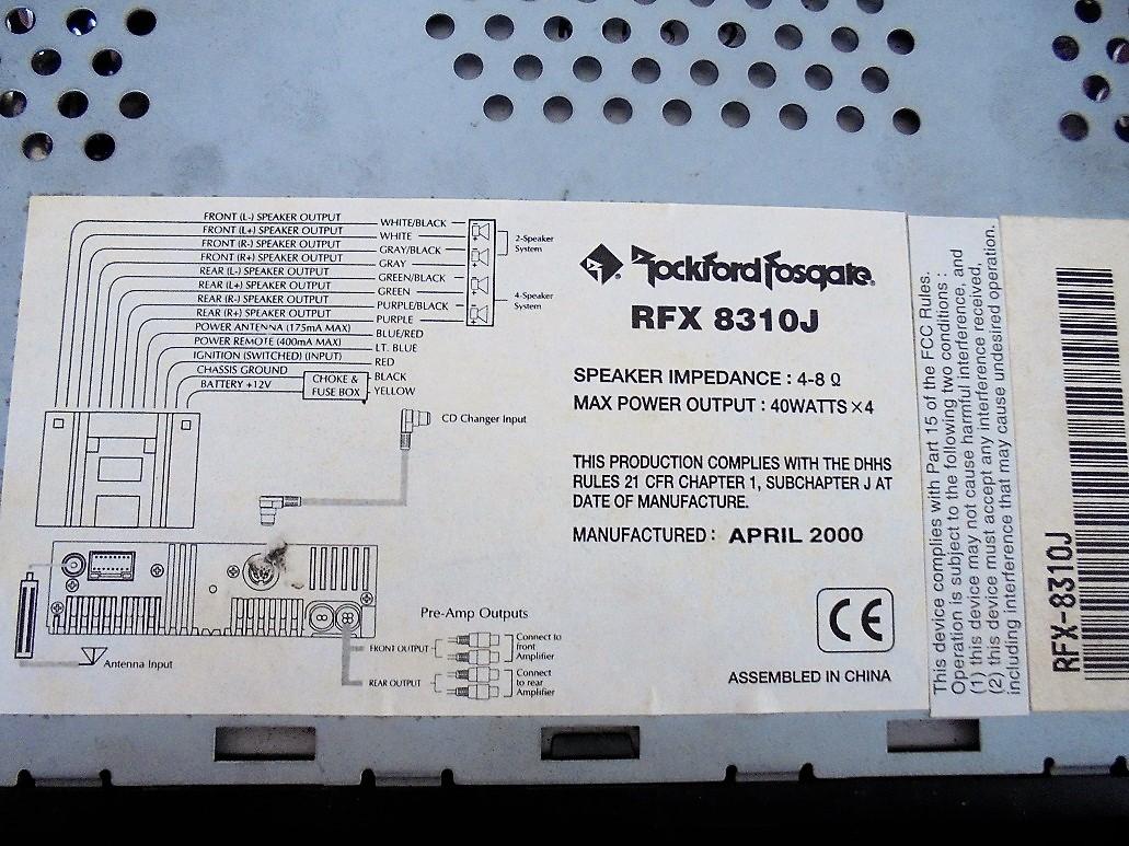 ROCKFORD ロックフォード RFX8310 ヤマト便着払い!_画像4