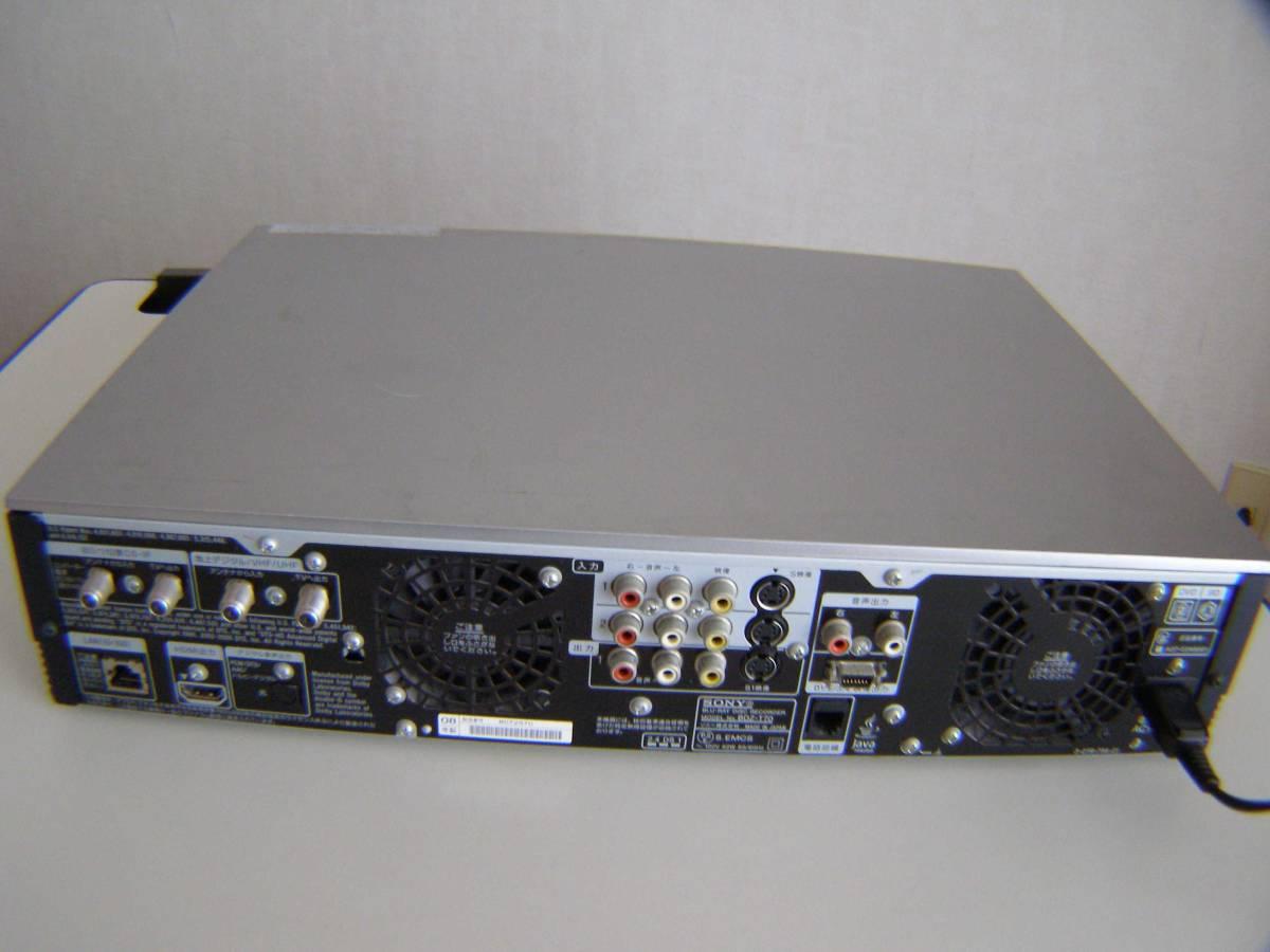 ソニー BDZ-T70 2番組同時録画 320GB 動作確認済み_画像9