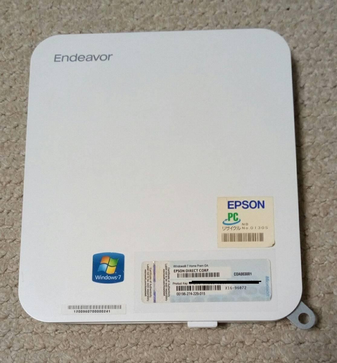 【超小型PC】EPSON Endeavor NB51E★CPU:AMD E2-1800 (1.7GHz)★メモリ:4GB★HDD 500GB★Win7★中古_画像2