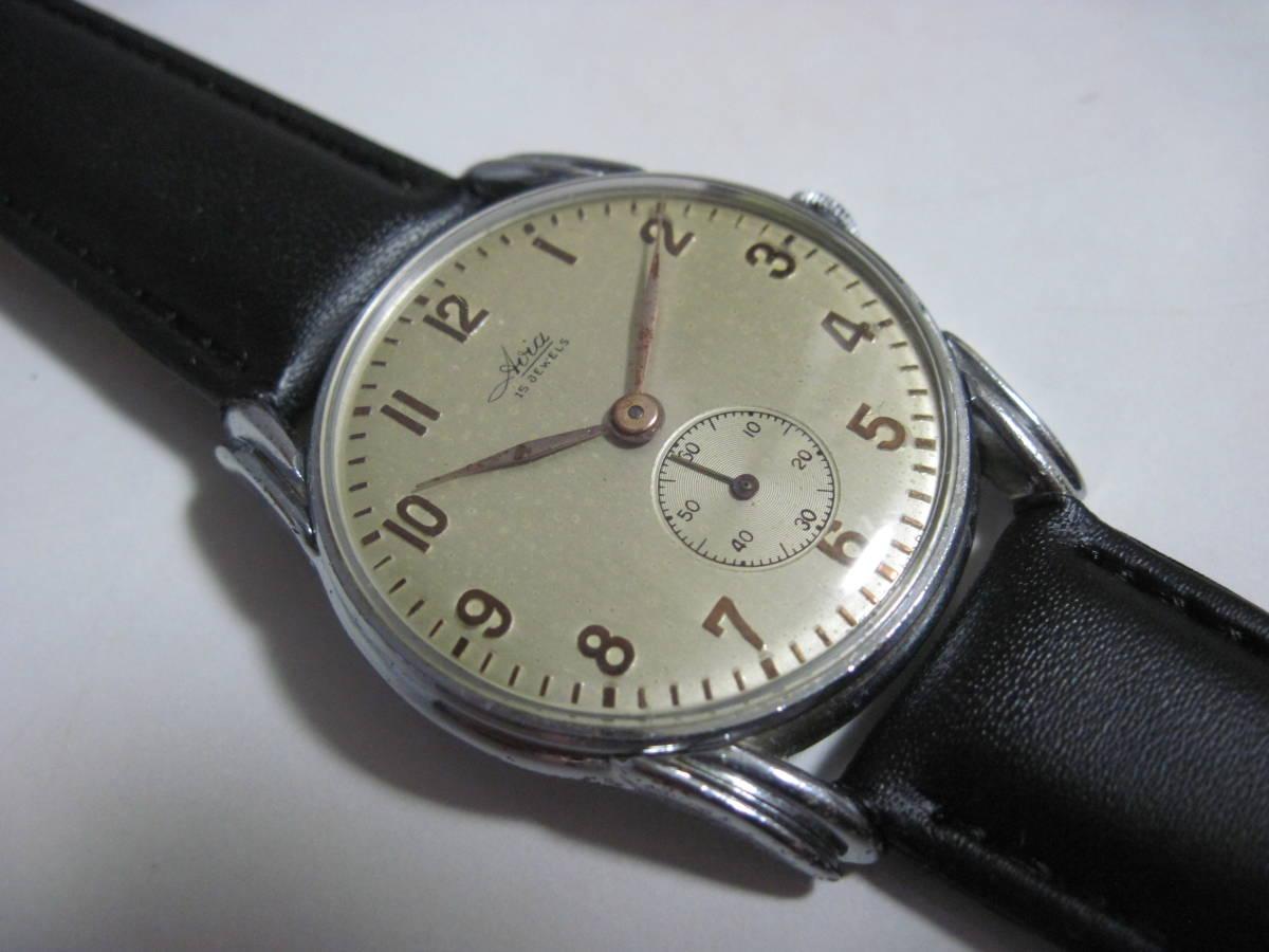 50年代AVIA Avia 15 Jewels Smoseco Big Face厚地毯瑞士製造古董handwound手錶稀有項目 編號:s622325649