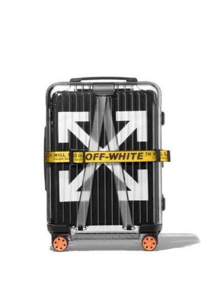 オフホワイト リモワ offwhite Rimowa スーツケース ブラック 黒 新品未使用 付属品購入時のまま 定価以下 売り切り