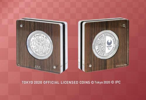 東京2020殘奧會運動會紀念千日元銀幣證明金錢套裝柔道 編號:t608090418