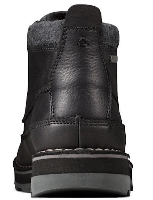 Clarks 29cm ブーツ GTX ゴアテックス ブラック 黒 レザー 革 マウンテンブーツ レースアップ チャッカ ビジネス ローファー H193_画像8
