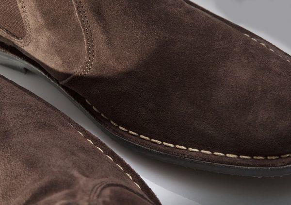 ROAMERS 24.5cm サイドゴア ブーツ ダーク ブラウン チェルシー スエード レザー 革 チャッカ レースアップ ビジネス スニーカー H180_画像6