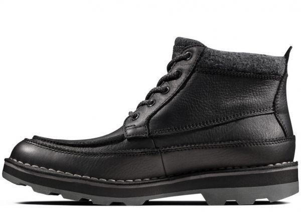 Clarks 29cm ブーツ GTX ゴアテックス ブラック 黒 レザー 革 マウンテンブーツ レースアップ チャッカ ビジネス ローファー H193_画像9