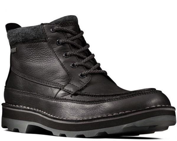 Clarks 29cm ブーツ GTX ゴアテックス ブラック 黒 レザー 革 マウンテンブーツ レースアップ チャッカ ビジネス ローファー H193_画像1