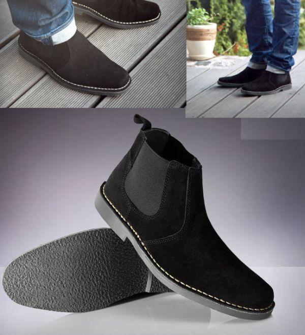 ROAMERS 27.5cm サイドゴア ブーツ トープ チェルシー スエード レザー 革 チャッカ レースアップ ビジネス スニーカー H180_画像5