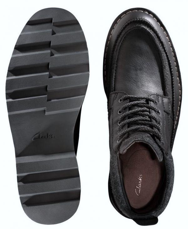 Clarks 29cm ブーツ GTX ゴアテックス ブラック 黒 レザー 革 マウンテンブーツ レースアップ チャッカ ビジネス ローファー H193_画像10