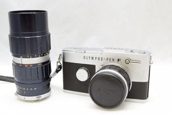 ☆OLYMPUS オリンパス PEN-FT G.ZUIKO AUTO-S 40mm 1:1.4 + ZUIKO Auto-zoom 50-90mm 1:3.5 ジャンク