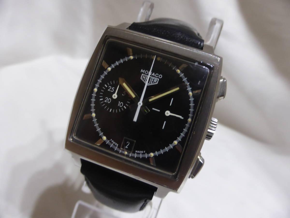 HEUER☆ホイヤー モナコ クロノグラフ 5000本限定 CS2110 自動巻 メンズ 腕時計☆_画像5