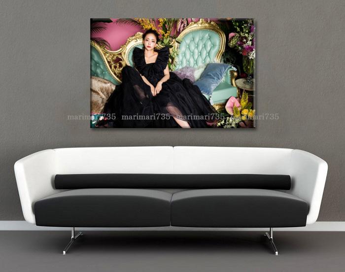 20L安室奈美恵特大アートパネル75×50cm大型木枠フレーム張りキャンバスパネル完成品アートボードインテリア特注壁掛けポスターグッズ即決_画像6