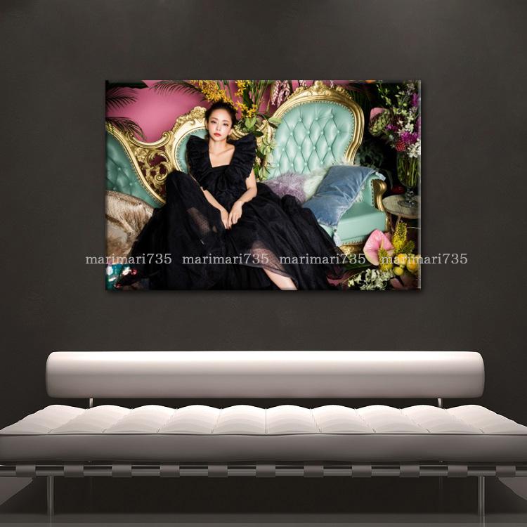 20L安室奈美恵特大アートパネル75×50cm大型木枠フレーム張りキャンバスパネル完成品アートボードインテリア特注壁掛けポスターグッズ即決_画像5