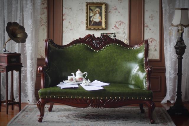 新品 BJD用家具 ソファー 緑色 高品質 ドール用 球体関節人形用 SD/DD/70cm/SD17サイズ通用 復古 撮影 TH-005_画像1