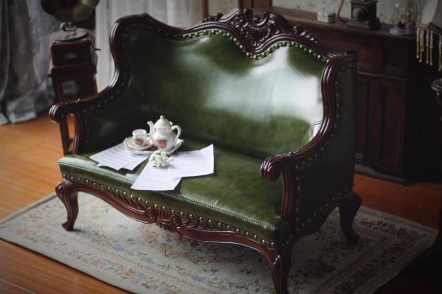新品 BJD用家具 ソファー 緑色 高品質 ドール用 球体関節人形用 SD/DD/70cm/SD17サイズ通用 復古 撮影 TH-005_画像3