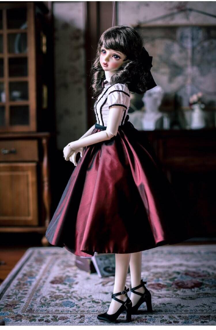 BJD用 球体関節人形用衣装 3点セット 高品質 洋服 復古 SD/MSDサイズ doll ドール用 人形用 同梱可能 YYJ-011_画像4
