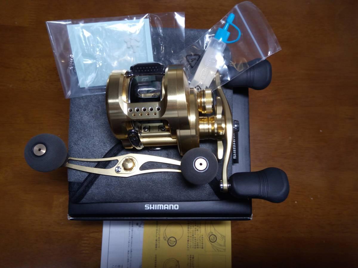 【新品未使用】 シマノ 18 カルカッタコンクエスト 301 左 アベイルパワーハンドルT4S 110mm 付き