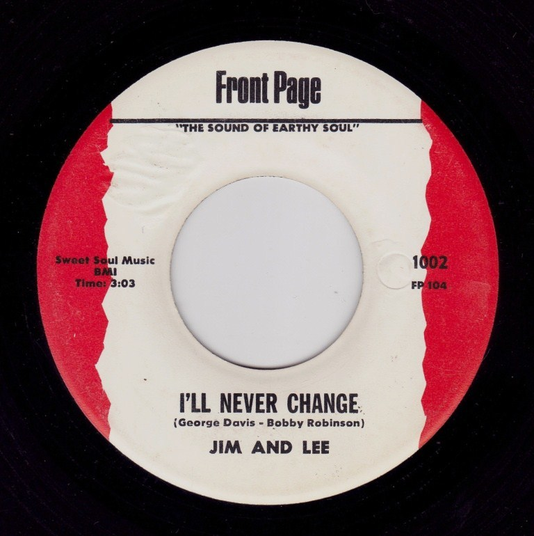 jim and lee i ll never change front page ヤフオク