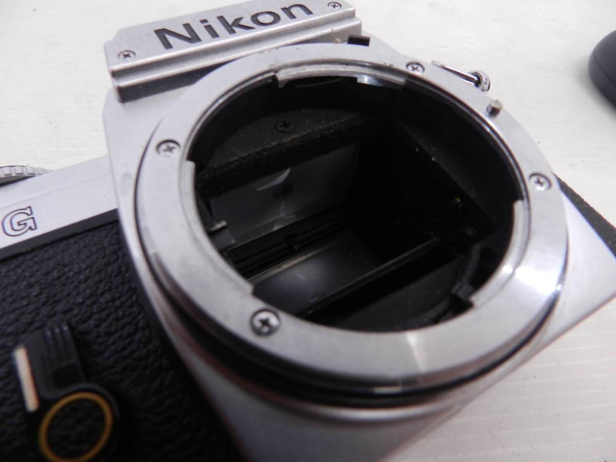 NIKON ニコン/MF 一眼レフカメラ/FG シルバーボディ/動作品/コレクション/管A1132_画像2