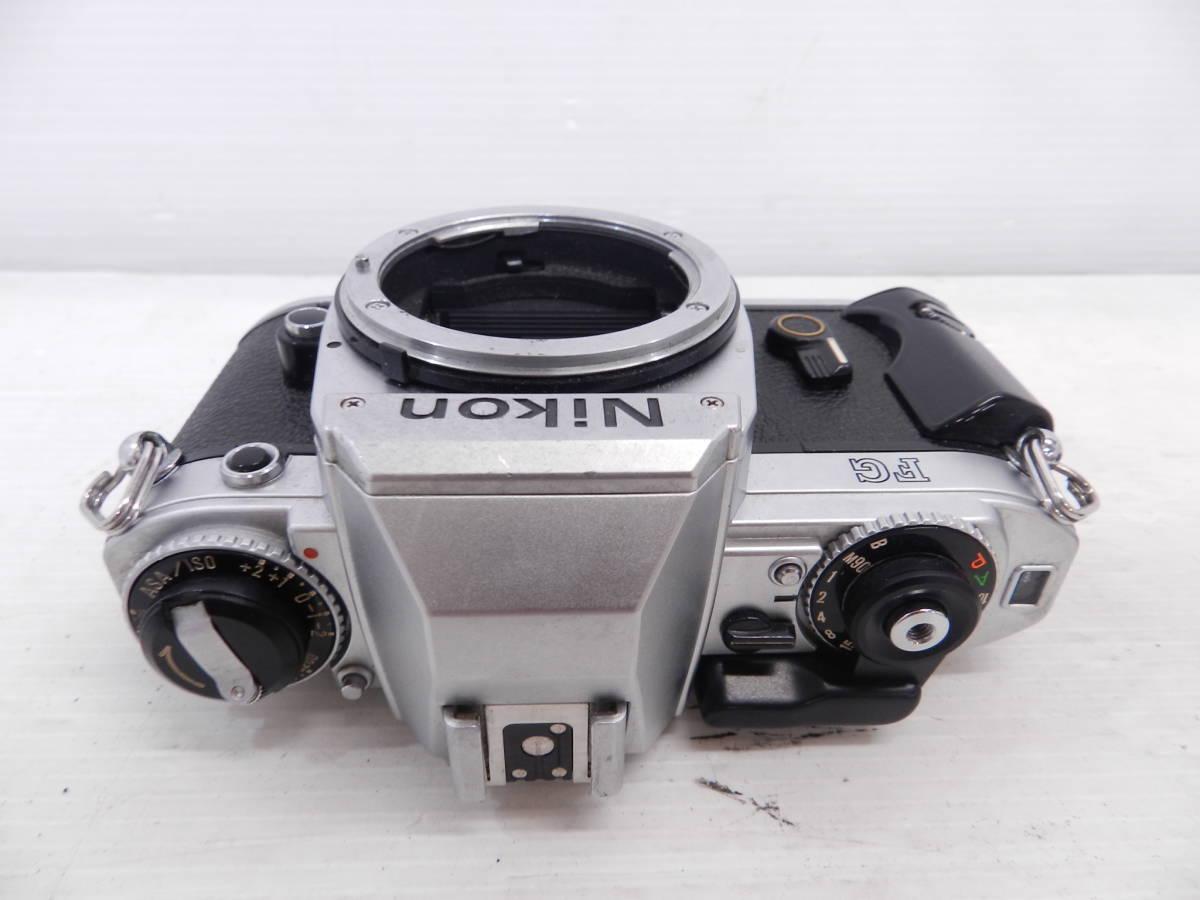 NIKON ニコン/MF 一眼レフカメラ/FG シルバーボディ/動作品/コレクション/管A1132_画像3