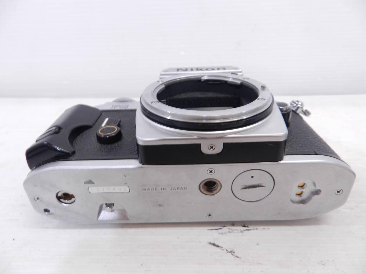 NIKON ニコン/MF 一眼レフカメラ/FG シルバーボディ/動作品/コレクション/管A1132_画像4