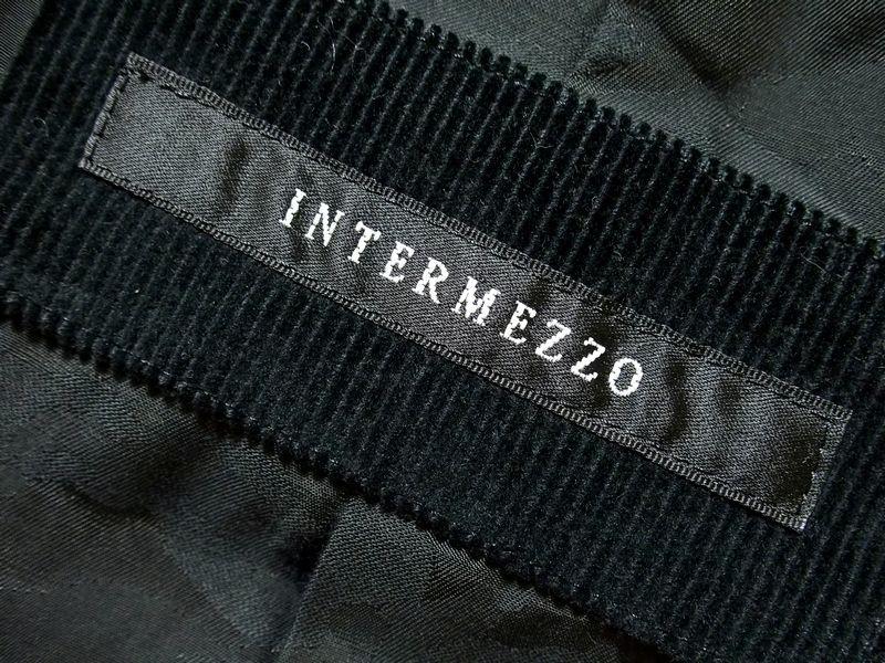 ♪洗練美 美品 INTERMEZZO インターメッツォ ヘリンボーン ウール×羊革シープレザー ドッキングカラージャケット 異種素材切替 46♪_画像10