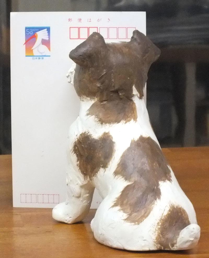 ★ジャックラッセルテリア犬の置物★創作粘土工芸家の手作り作品★_画像4