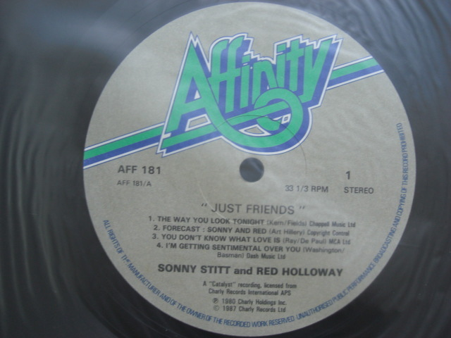 *【LP】Sonny Stitt、Red Holloway/Just Friends(AFF181)(輸入盤)_画像3