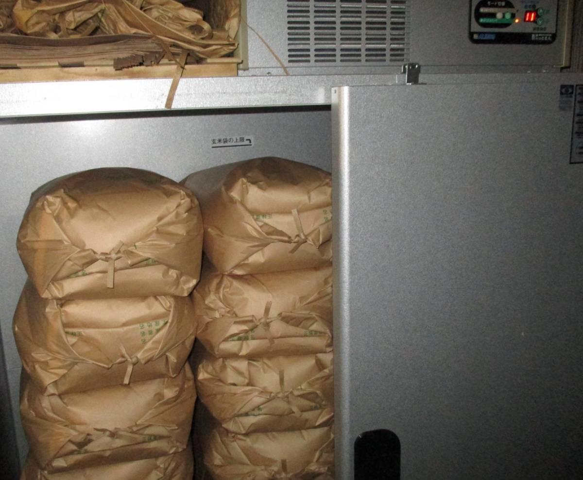 玄米保冷庫で保管中