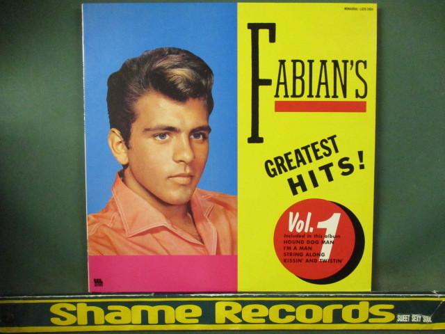 Fabian : Fabian's Greatest Hits Vol.1 LP // Oldies オールディーズ / Pops ポップス / 5点で送料無料_画像1