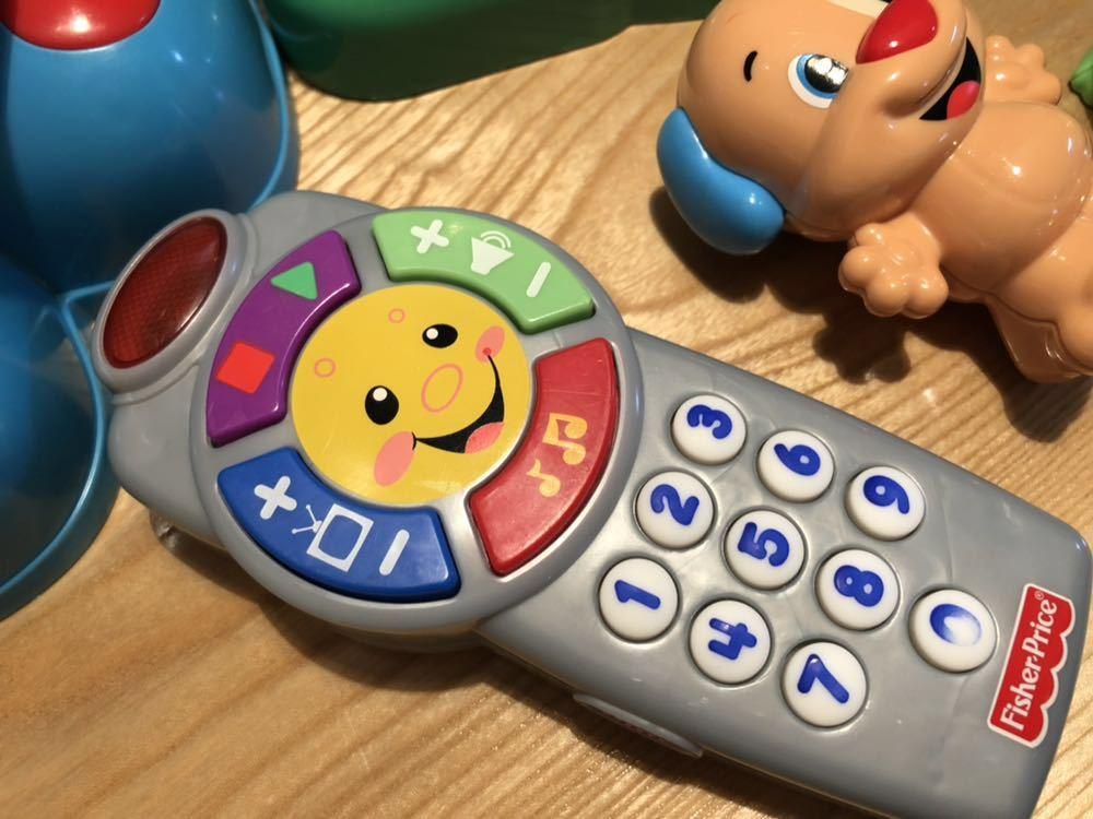 送料無料 フィッシャープライス 知育玩具 3点セット バイリンガルビーボ バイリンガルハウス リモコン 美品_画像2