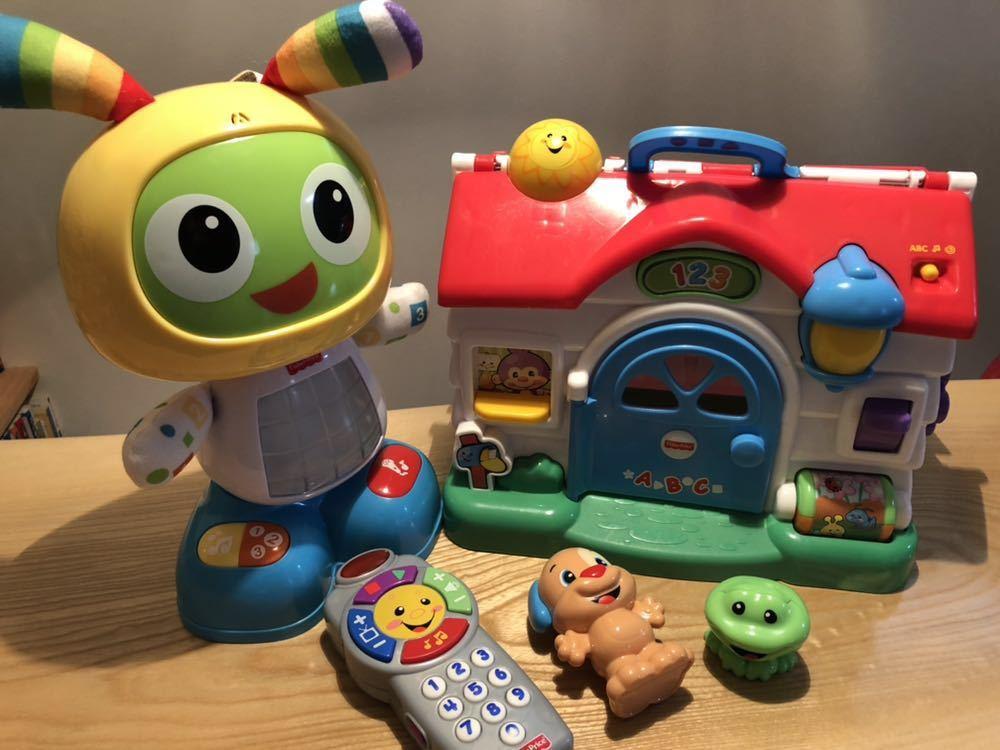 送料無料 フィッシャープライス 知育玩具 3点セット バイリンガルビーボ バイリンガルハウス リモコン 美品