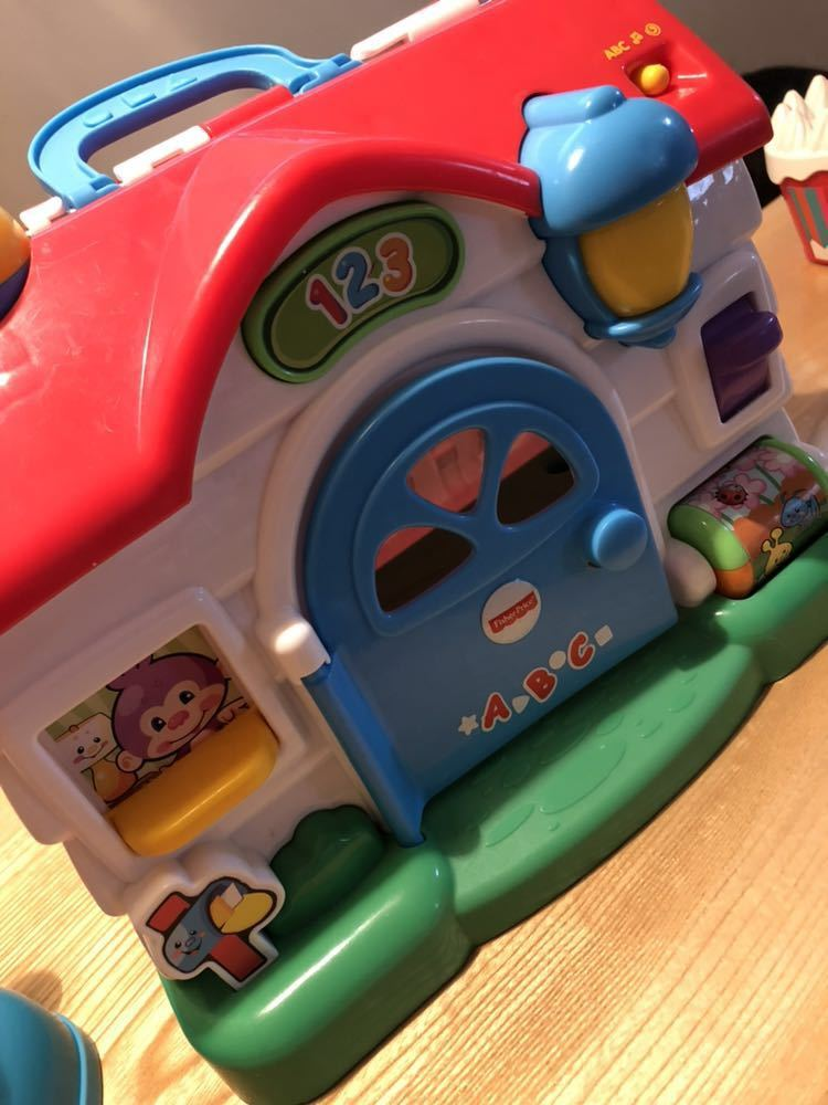 送料無料 フィッシャープライス 知育玩具 3点セット バイリンガルビーボ バイリンガルハウス リモコン 美品_画像4