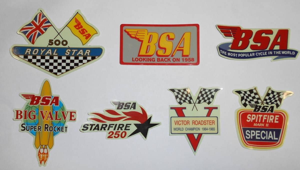 ステッカーNo3、BSA、デカール、バイク、ヴィンテージ、英車、クラッシック、50's、60's、トライアンフ、レトロ 3_画像1
