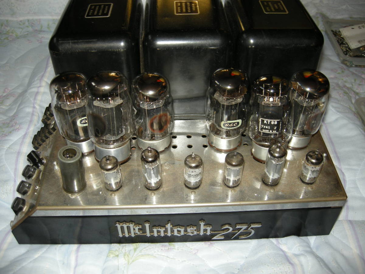 貴重ながらも重病のマッキントッシュ パワーアンプ mcintosh 275(マッキントッシュ275)ジャンク扱い(40年前からの使用品)