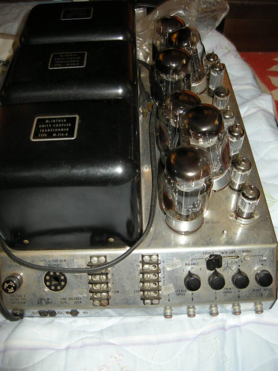 貴重ながらも重病のマッキントッシュ パワーアンプ mcintosh 275(マッキントッシュ275)ジャンク扱い(40年前からの使用品)_画像2