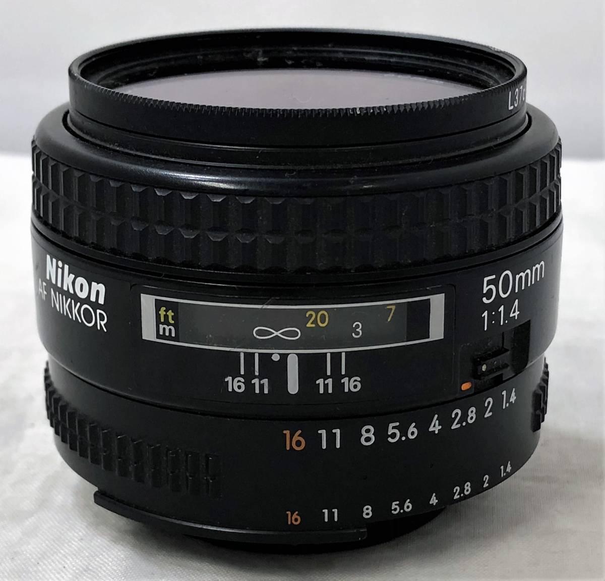 当時物、ジャンク扱い ニコン フィルムカメラ&カメラレンズ Nikomat FT3、AF NIKKOR 50mm 1:1.4_画像9