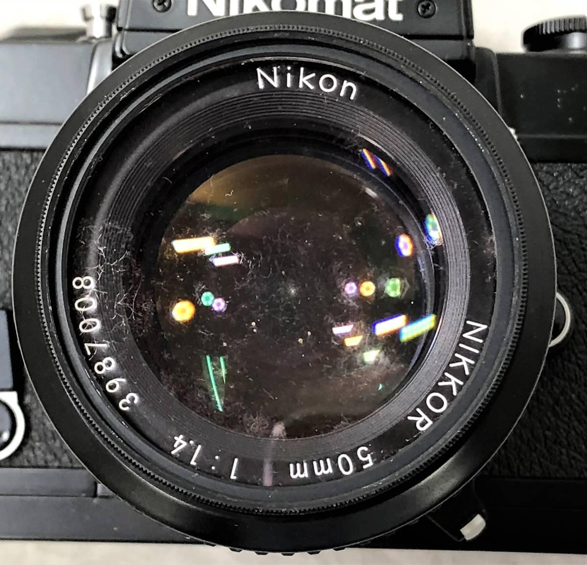 当時物、ジャンク扱い ニコン フィルムカメラ&カメラレンズ Nikomat FT3、AF NIKKOR 50mm 1:1.4_画像3