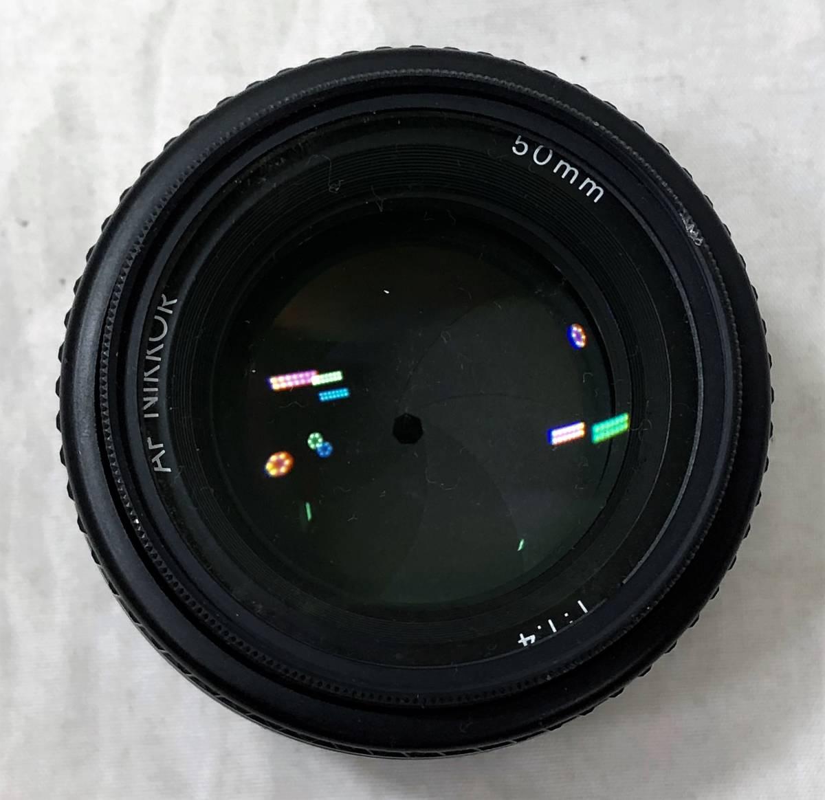 当時物、ジャンク扱い ニコン フィルムカメラ&カメラレンズ Nikomat FT3、AF NIKKOR 50mm 1:1.4_画像10