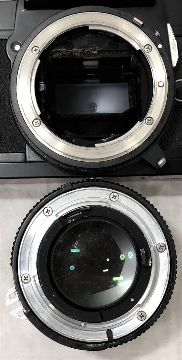 当時物、ジャンク扱い ニコン フィルムカメラ&カメラレンズ Nikomat FT3、AF NIKKOR 50mm 1:1.4_画像8