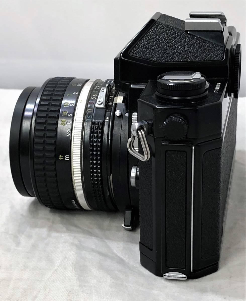 当時物、ジャンク扱い ニコン フィルムカメラ&カメラレンズ Nikomat FT3、AF NIKKOR 50mm 1:1.4_画像2