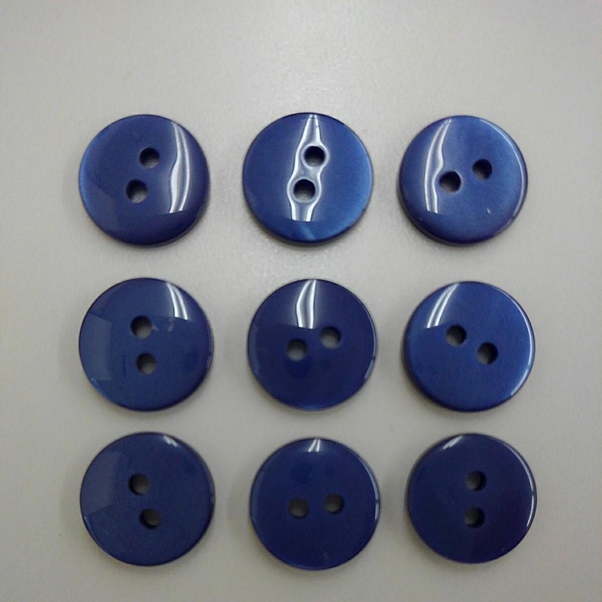 ◆ボタン 9個 クリアパープル◆_画像2