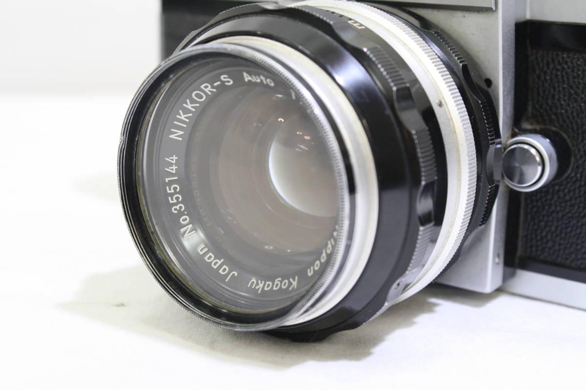 ジャンク品 NIKON ニコン 一眼レフ フィルムカメラ NIKON F NIKKOR S 1:1.4 f=50mm NIKKOR Q 1:3.5 f=13.5cm NIKKOR H 1:3.5 f=2.8cm_画像5