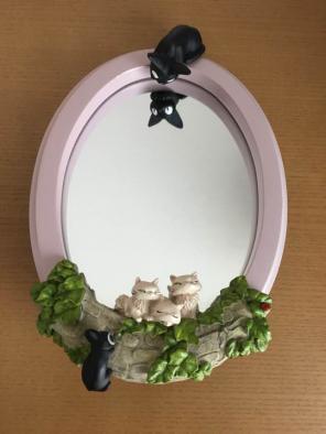 未使用 ジブリ 壁掛けミラーコレクション 魔女の宅急便 ジジ _サンプル