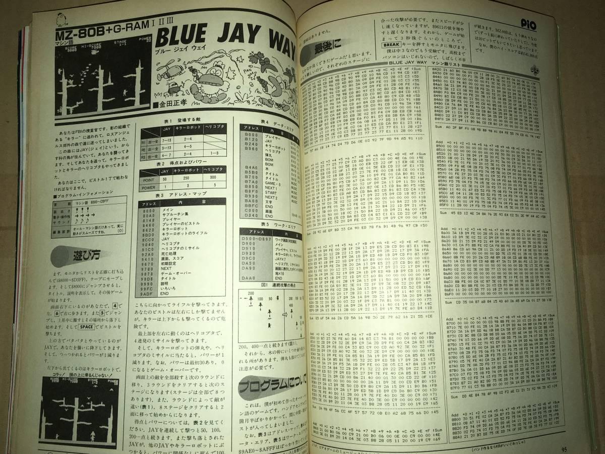 工学社 PIO ピオ 1985年11月号 MZ2000/2200 クラッシュクラッシュX1 ゴーストハンター MZ80B ブルージェイウエイ S1 ザ・ラダー _画像8
