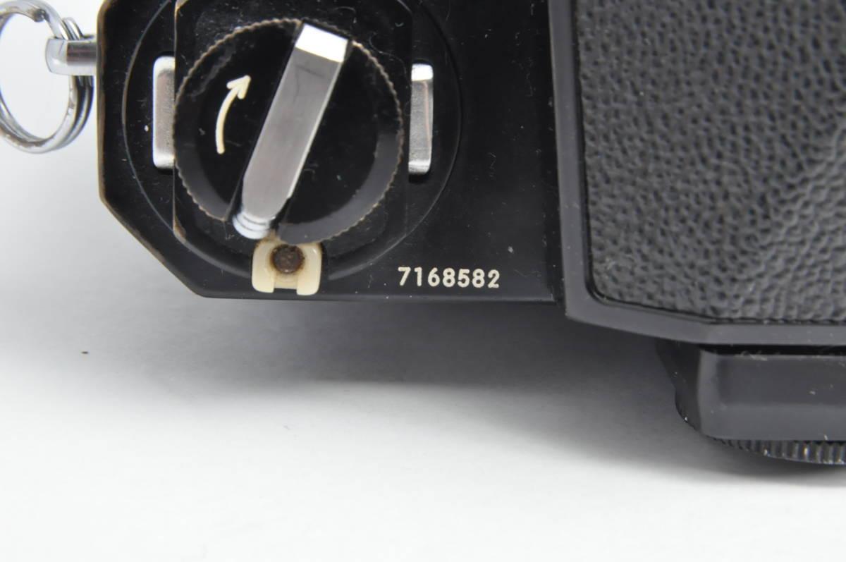 #2970 NIKON F アイレベル ブラックボディ NIKKOR-HC 50mm F2 ニコン 黒 レンズ付き フィルムカメラ_画像3