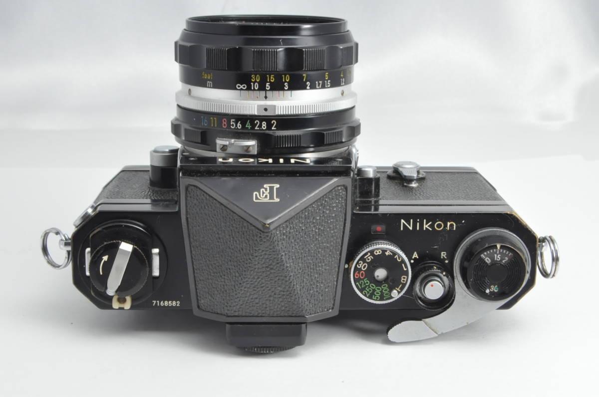 #2970 NIKON F アイレベル ブラックボディ NIKKOR-HC 50mm F2 ニコン 黒 レンズ付き フィルムカメラ_画像2